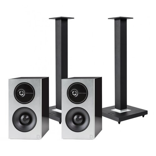 View Larger Image of Demand Series D9 High-Performance Bookshelf Speakers with Speaker Stands - Pair