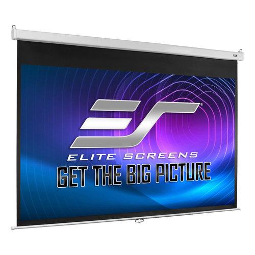 """View Larger Image of M120HSR-PRO 120"""" Manual Pull Down Projection Screen with Slow Retraction"""