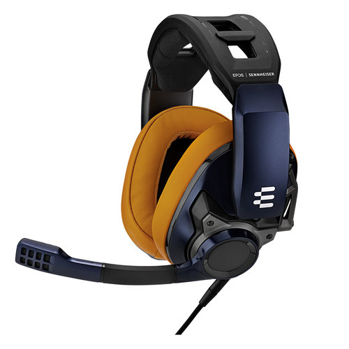 View Larger Image of GSP 602 Closed Acoustic Gaming Headset (Blue/Gold)