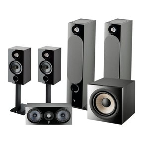 Chora 5.1.2 Surround Sound Speaker Package with Built-In Dolby Atmos Modules (Black)