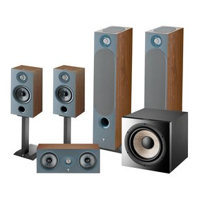 Chora 5.1.2 Surround Sound Speaker Package with Built-In Dolby Atmos Modules (Dark Wood)