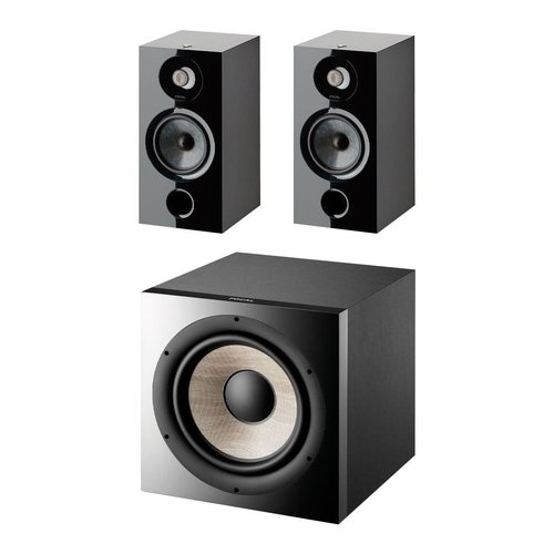 View Larger Image of Chora 806 Bookshelf Speakers with Sub 1000 F High Power Subwoofer (Black)