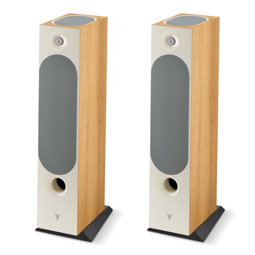 View Larger Image of Chora 826-D Floorstanding Speakers with Built-In Dolby Atmos Modules - Pair (Light Wood)