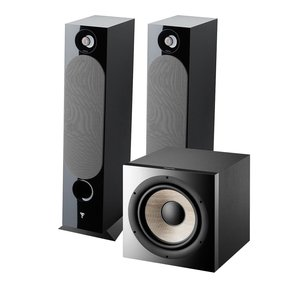 Chora 826 Floor Standing Speakers with Sub 1000 F High Power Subwoofer (Black)