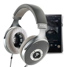 CLEAR Over-Ear Audiophile Headphones with A&K SP2000 Octa-core Portable Music Player (Stainelss Steel)