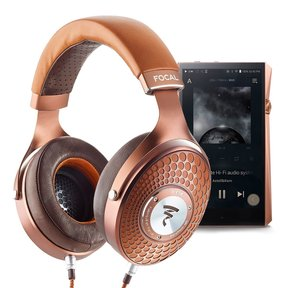 Stellia Over-Ear Audiophile Headphones with A&K SP2000 Octa-core Portable Music Player (Copper)