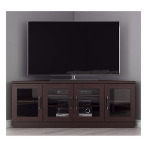 """60"""" FT60CCCW Corner TV Stand Media Console (Wenge)"""