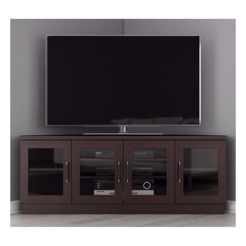 """View Larger Image of 60"""" FT60CCCW Corner TV Stand Media Console (Wenge)"""