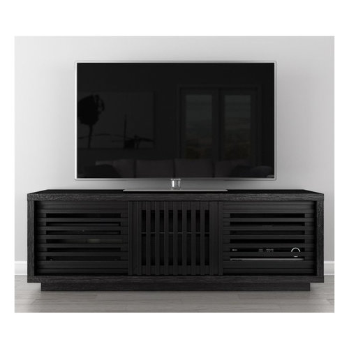 """View Larger Image of 64"""" FT64WSEB TV Stand Media Console (Black American Oak)"""