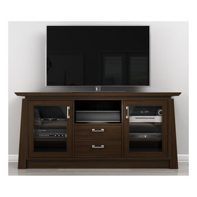 "70"" ELEGANTE TV Stand Media Console (Brown Cherry Wood)"