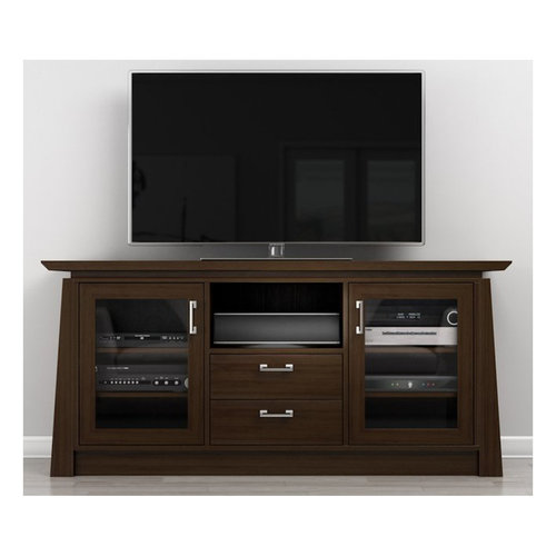 """View Larger Image of 70"""" ELEGANTE TV Stand Media Console (Brown Cherry Wood)"""