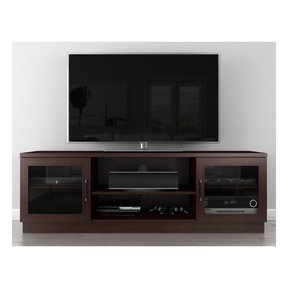 """70"""" FT70CCW Contemporary TV Stand Media Console (Wenge)"""