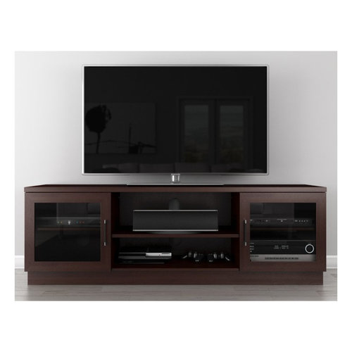 """View Larger Image of 70"""" FT70CCW Contemporary TV Stand Media Console (Wenge)"""