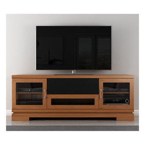 """70"""" FT70TT TV Stand Media Console (American Cherry Wood)"""