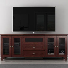 "70"" FT72SCDC TV Stand Media Console (Dark Cherry)"