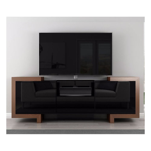 """View Larger Image of 75"""" FT75FA TV Stand Media Console (Black Lacquer Oak)"""