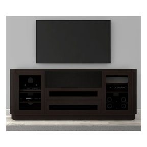 """78"""" FT78CL Transitional TV Console (Dark Brown Wenge)"""