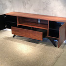 """View Larger Image of 78"""" FT78PF Stunning Mid-Century TV Stand Media Console (Iron Wood)"""
