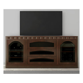 "78"" FT78TR Transitional TV Console (Cognac)"