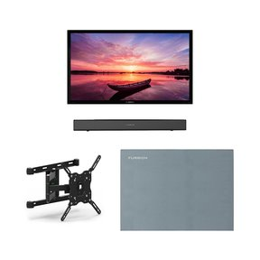 """FDUF43CBR 43"""" 4K Full Shade Outdoor TV bundle with 2.1-Channel Soundbar, TV Mount, and Weatherproof TV Cover"""