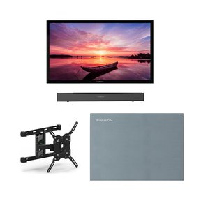 """FDUF55CBR 55"""" 4K Full Shade Outdoor TV bundle with 2.1-Channel Soundbar, TV Mount, and Weatherproof TV Cover"""