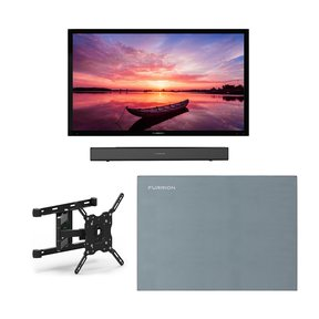 """FDUF65CBR 65"""" 4K Full Shade Outdoor TV bundle with 2.1-Channel Soundbar, TV Mount, and Weatherproof TV Cover"""