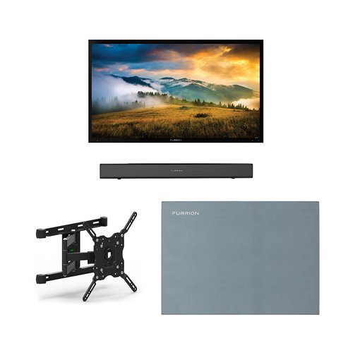 """View Larger Image of FDUP49CBR 49"""" 4K Partial Sun Outdoor TV bundle with 2.1-Channel Soundbar, TV Mount, and Weatherproof TV Cover"""
