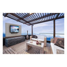 "View Larger Image of FDUP49CBR 49"" 4K Partial Sun Outdoor TV bundle with 2.1-Channel Soundbar, TV Mount, and Weatherproof TV Cover"