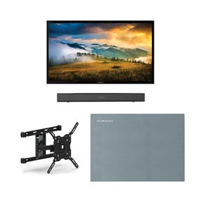 "FDUP55CBR 55"" 4K Partial Sun Outdoor TV bundle with 2.1-Channel Soundbar, TV Mount, and Weatherproof TV Cover"