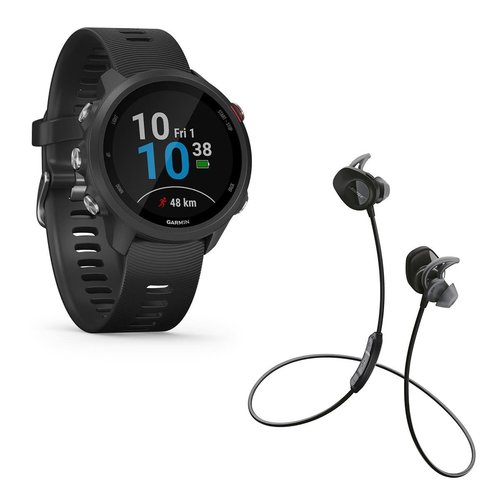View Larger Image of Forerunner 245 Music GPS Smartwatch with Bose SoundSport Wireless Earbuds