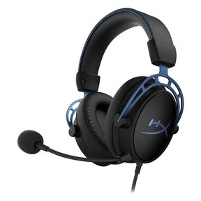Cloud Alpha S Over-Ear Gaming Headset (Factory Certified Refurbished, Blue)