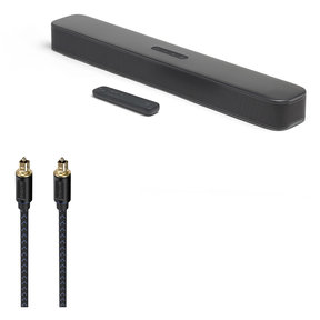 Bar 2.0 All-in-One Compact 2.0 Channel Sound Bar with Austere V Series Optical Audio Cable - 6.56 ft (2.0m)