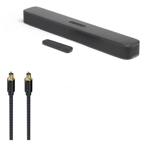 View Larger Image of Bar 2.0 All-in-One Compact 2.0 Channel Sound Bar with Austere V Series Optical Audio Cable - 6.56 ft (2.0m)