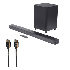 Bar 5.1 Surround 5.1 Channel Sound Bar with Austere III Series 4K HDMI Cable - 8.2 ft (2.5m)