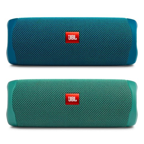 View Larger Image of Flip 5 ECO Portable Waterproof Bluetooth Speaker - Pair (Ocean Blue/Forest Green)