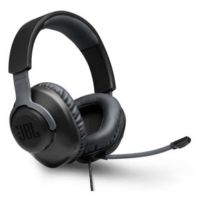 Free WFH Wired Over-Ear Headset with Detachable Mic (Black)