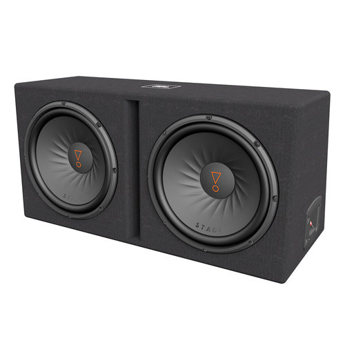 """View Larger Image of Stage 1200D Dual 12"""" 2-Ohm Subwoofer Enclosure"""