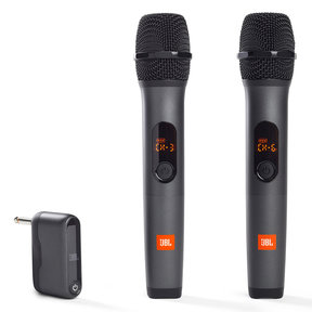 Wireless Two Microphone System with Dual-Channel Receiver