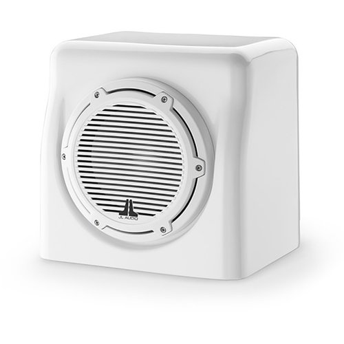 "View Larger Image of M6-8FES-Gw-C-GwGw-4 8"" 4-Ohm Marine Enclosed Subwoofer System (Gloss White)"