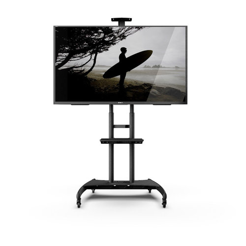 View Larger Image of MTM82PL Mobile TV Mount with Adjustable Shelf for 50-inch to 82-inch TVs