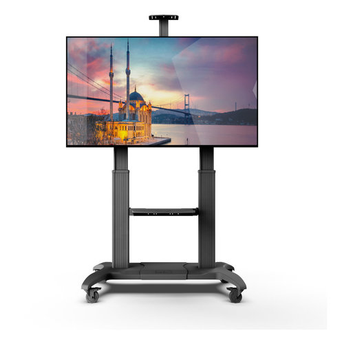 View Larger Image of MTMA100PL Mobile TV Mount with Adjustable Shelf for 60-inch to 100-inch TVs