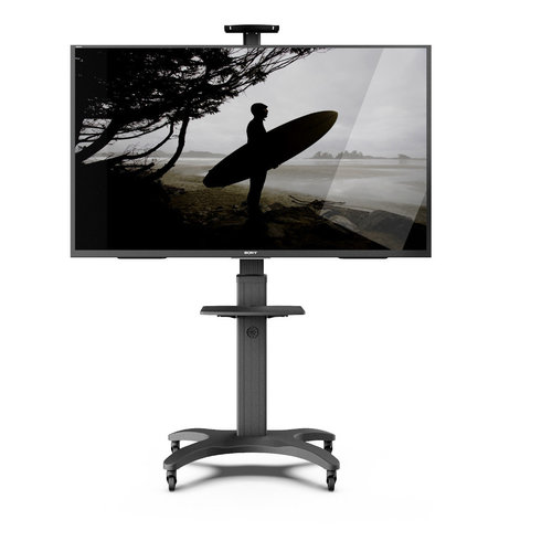 View Larger Image of MTMA65PL Mobile TV Mount with Adjustable Shelf for 32-inch to 65-inch TVs