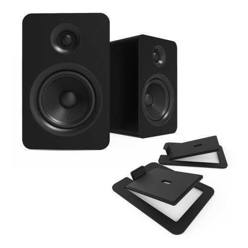 View Larger Image of YUP6 Passive Bookshelf Speakers with S6 Speaker Stands - Pair