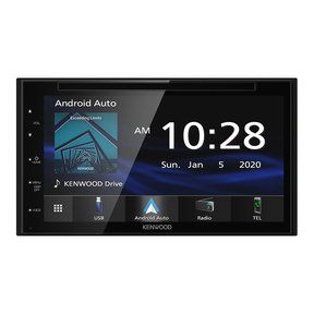 DDX5707S Double Din DVD Car Stereo with Apple Carplay and Android Auto, 6.8 Inch Touchscreen, Bluetooth, Backup Camera Input, Subwoofer Out, USB Port, A/V Input, FM/AM Car Radio