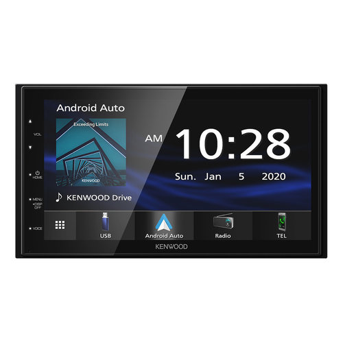 """View Larger Image of DMX4707S 6.8"""" Digital Media Touchscreen Receiver w/ Apple CarPlay and Android Auto"""