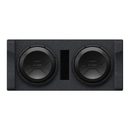 """View Larger Image of P-XW1221D Dual 12"""" Preloaded 2-Ohm Subwoofer Enclosure"""