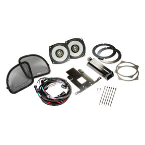 """46HDR154 6-1/2"""" Coaxial Speakers and 4-Channel Amplifier for Select 2015 and Up Harley-Davidson Motorcycles"""