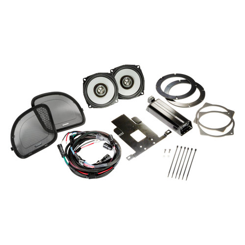 "View Larger Image of 46HDR154 6-1/2"" Coaxial Speakers and 4-Channel Amplifier for Select 2015 and Up Harley-Davidson Motorcycles"
