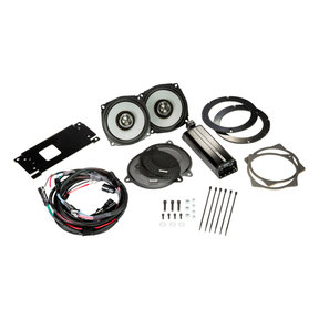 "46HDS144 6-1/2"" Coaxial Speakers and 4-Channel Amplifier for Select 2014 and Up Harley-Davidson Motorcycles"