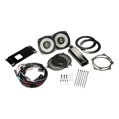 """View Larger Image of 46HDS144 6-1/2"""" Coaxial Speakers and 4-Channel Amplifier for Select 2014 and Up Harley-Davidson Motorcycles"""